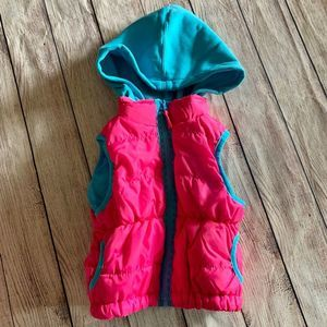 Pink Platinum Size 3T Hooded Puffer Vest - 0535